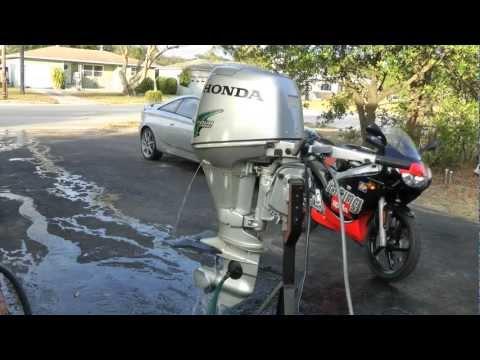 2004 Honda 25hp shortshaft electric start low hours!