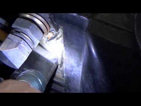 gmc Radiator crack fixed with a vacuum cleaner and epoxy