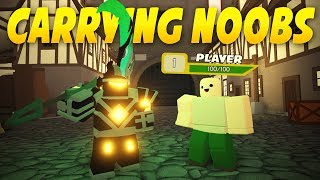 CARRYING NOOBS in Dungeon Quest #1 (ROBLOX)