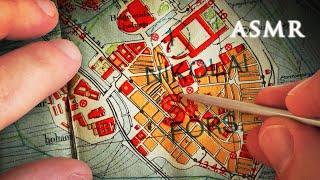 ASMR 1hr Tracing old Maps of Sweden and Stockholm | History