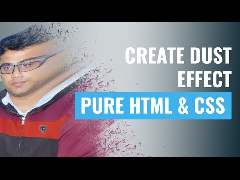 Create DUST EFFECT From INFINITY WAR with pure html and css thumbnail