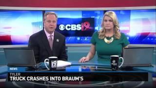 Truck Crashes into Braum
