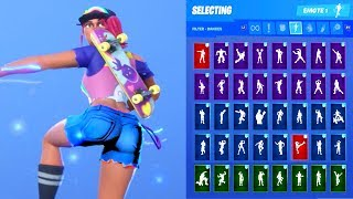 *NEW* Fortnite Beach Bomber Skin Outfit Showcase with All Dances & Emotes
