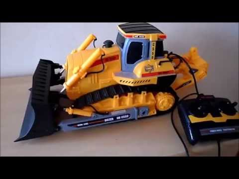 New Bright Toy Caterpillar Bulldozer Work Zone Remote Control NB c550