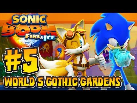 Sonic Boom Fire & Ice (3DS) - (1080p) Part 5 - World 5 Gothic Gardens