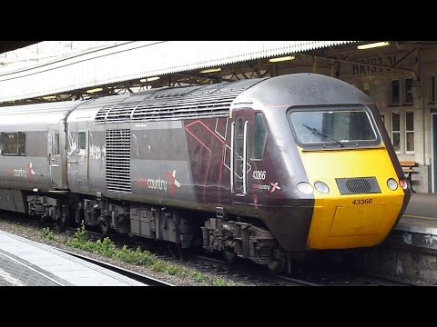 Trains at Bristol Temple Meads Railway Station Bristol England 2015.