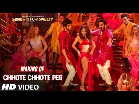 Making of Chhote Chhote Peg Video Song |  Sonu Ke Titu Ki Sweety