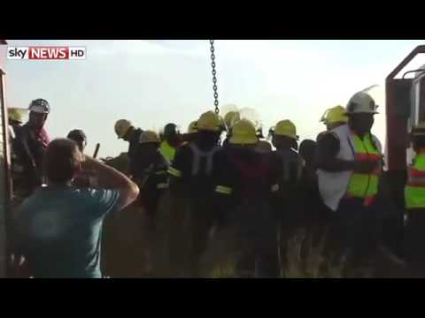South Africa '200 Gold Miners Trapped In Shaft'