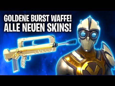 GOLDENE BURST WAFFE! ALLE NEUEN SKINS! 🔥 | Fortnite: Battle Royale