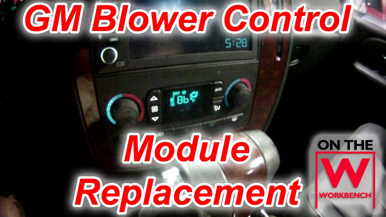 gm blower control module replacement