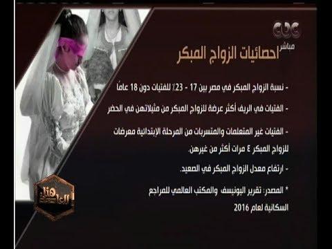 احصائيات عن الزواج المبكر فى مصر