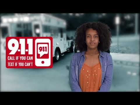 Text-to-911 PSA by the Texas School for the Deaf