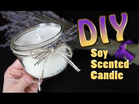 Diy Soy Candle With Scented