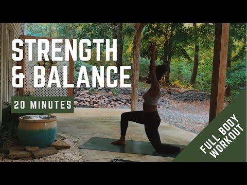 20 Minute Full Body Yoga Flow   Strength & Balance   Relax & Reset