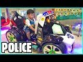 Police Car Formula 1and Excavator Kiddie Ride On with Arcade Games Playtime