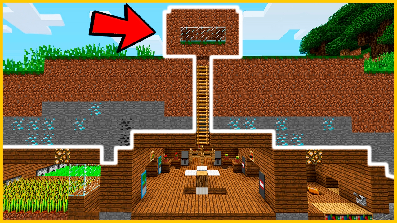 Casa de tierra secreta en minecraft youtube for Minecraft videos casas
