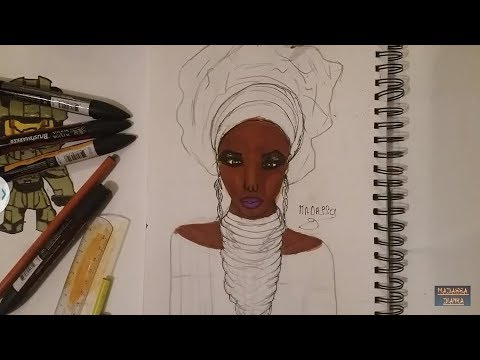 Dessiner Une Femme Noir Malien