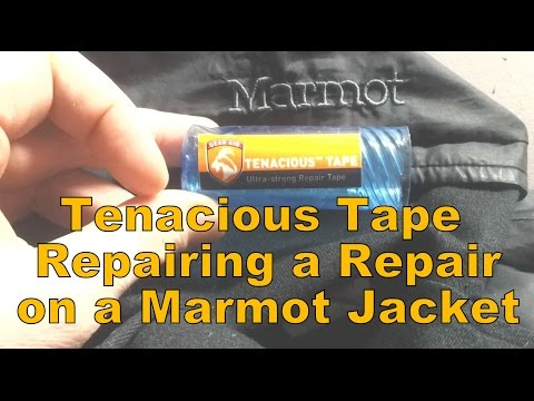 Tenacious Tape Repairing A Repair On Marmot Jacket