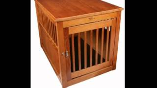 Dynamic Accents 52169 Oak End Table Pet Crate Large Burnished Oak