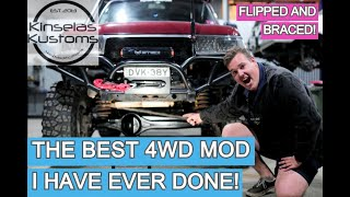 The Best 4wd Mod I've Ever Done! Flipped & Braced front diff!