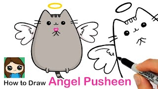 How to Draw an Angel Pusheen