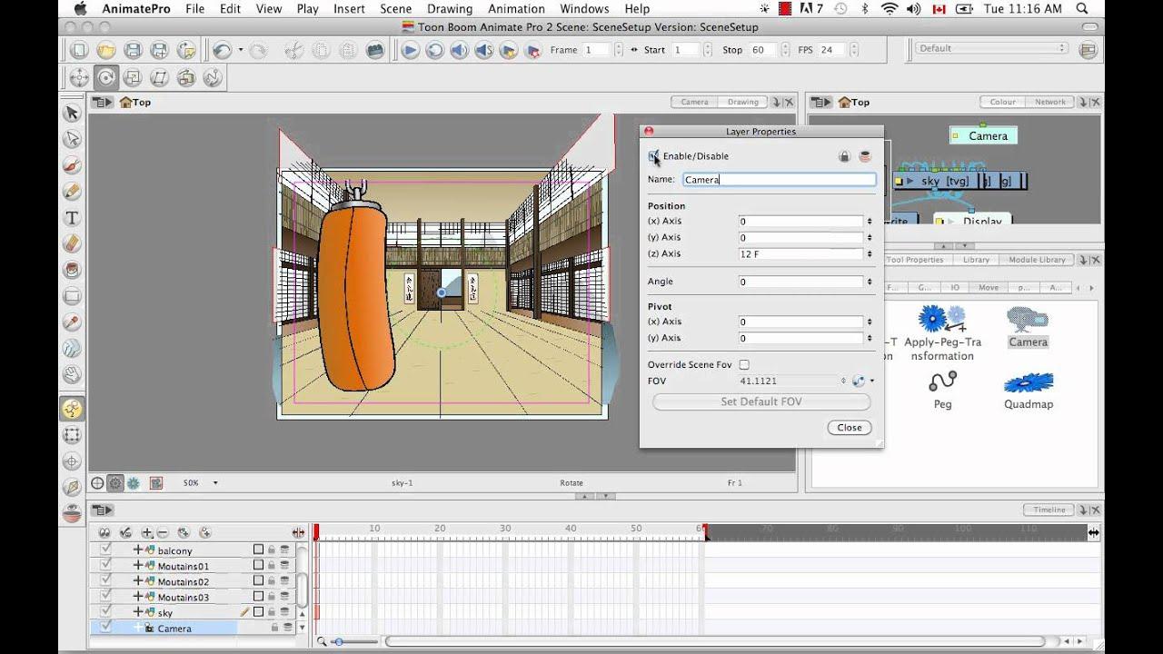 Toon Boom Animate Pro 2 Video Tutorials - 61 Camera