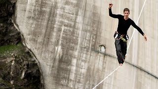 World Highline Record Smashed At Picturesque Dam