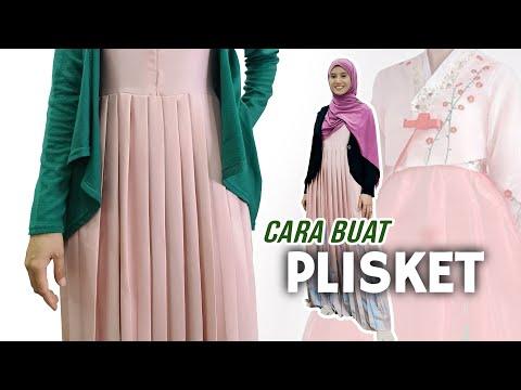 CARA JAHIT DRESS HANBOK   Buat Plisket Manual
