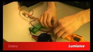 Installatie contactloze voeding aan led verlichting (sylvania)