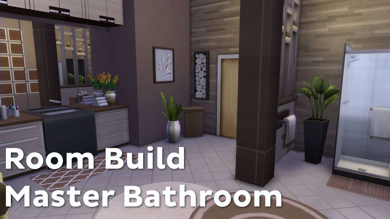 The sims 4 room build master bathroom youtube for Bathroom ideas sims 4