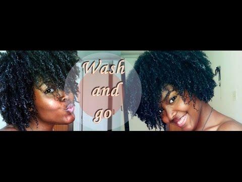 Essai wash and go avec le gel de lin