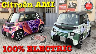 360° VIDEO 4K | Citroën AMI 100Electric | Road Test Milano | OCT 2020