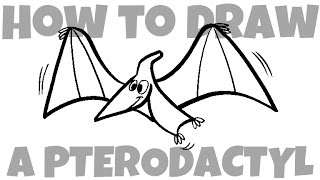 How to Draw a Pterodactyl