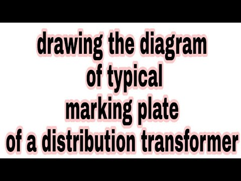 drawing the diagram of typical marking plate of a distributiondrawing the diagram of typical marking plate of a distribution transformer 3rd sem 2nd year iti elec