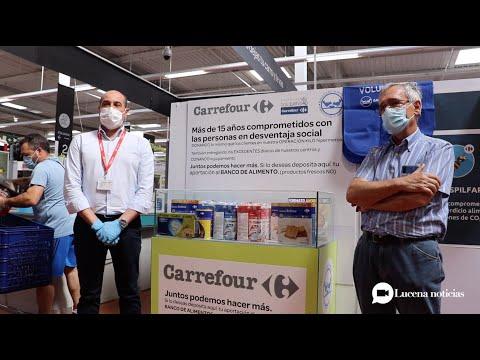 VÍDEO: El Banco de Alimentos inicia una campaña de recogida de productos en Carrefour Lucena