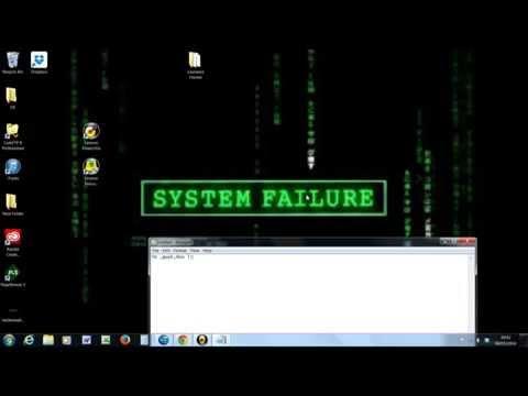 How to create a Blaster virus