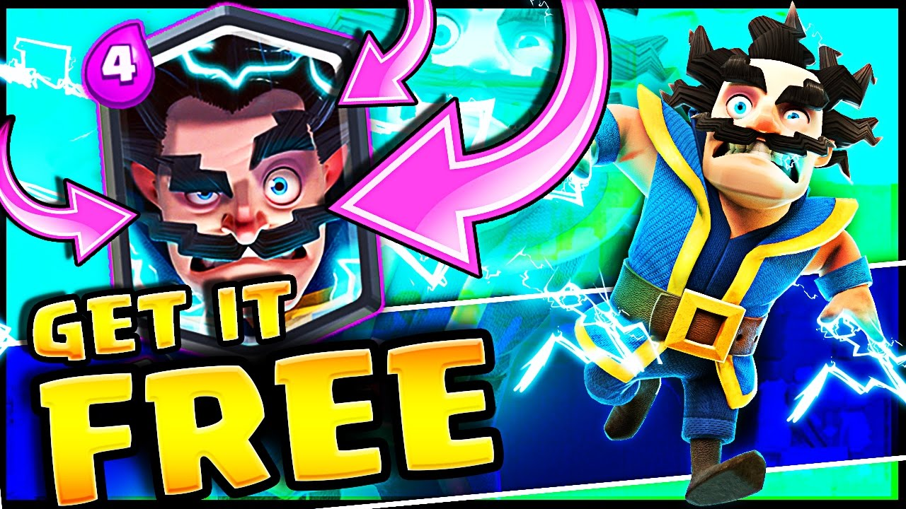 get a free electro wizard clash royale