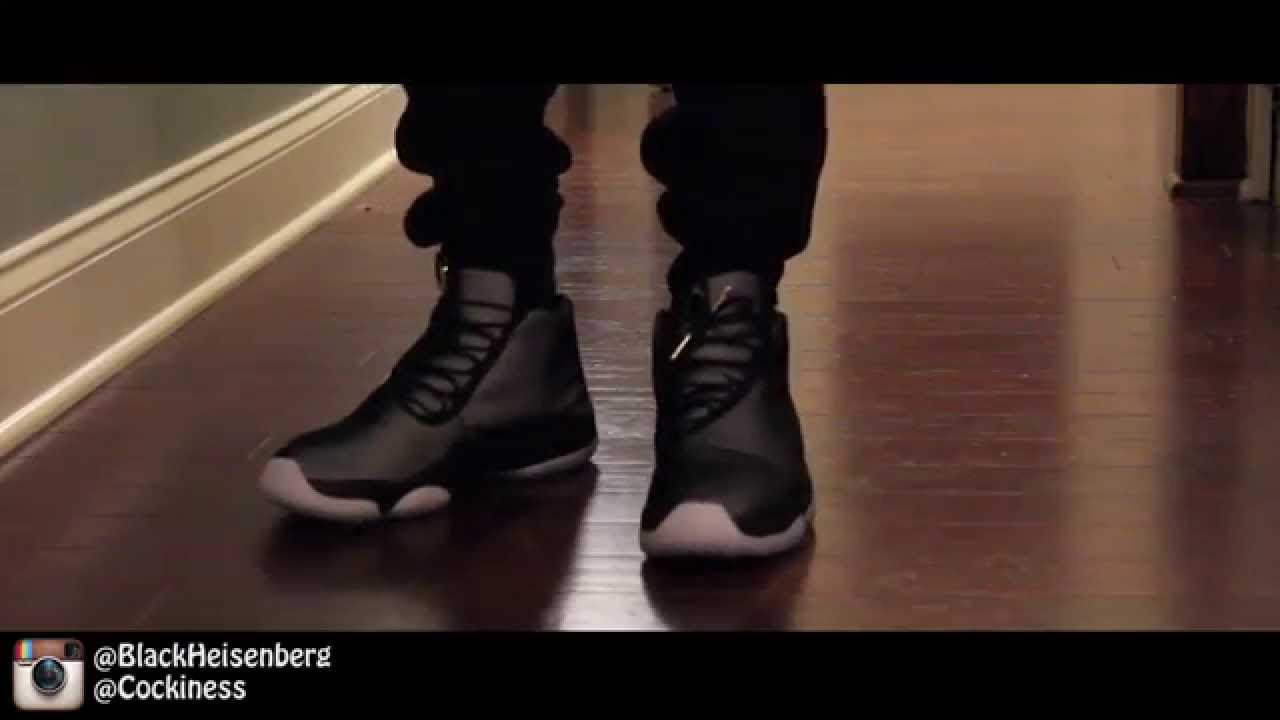 9edd65096be ... spain jordan future black ice on foot youtube d3ace 1776d