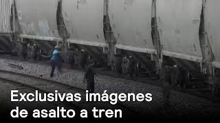 EXCLUSIVA: Imágenes de asalto a tren - Puebla - En Punto con Denise Maerker