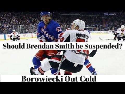 Brendan Smith boarding on Borowiecki, was it a dirty hit?