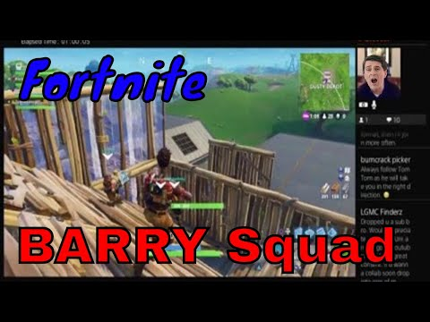 Fortnite battle BARRY Squad  - RG Live PS4 Broadcast