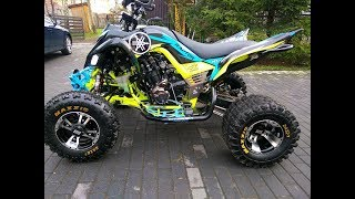 Yamaha Raptor 700 hybrid/ Swap engine Yamaha MT-07 / exhaust sound /ASG Częstochowa