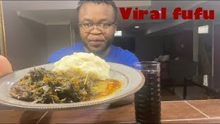 African food Mukbang: I made FUFU viral on TikTok *watch until the end*