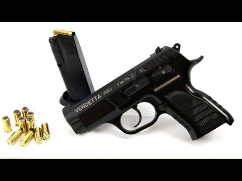 VENDETTA травматический пистолет калибра 9 мм РА небольшой обзор и .