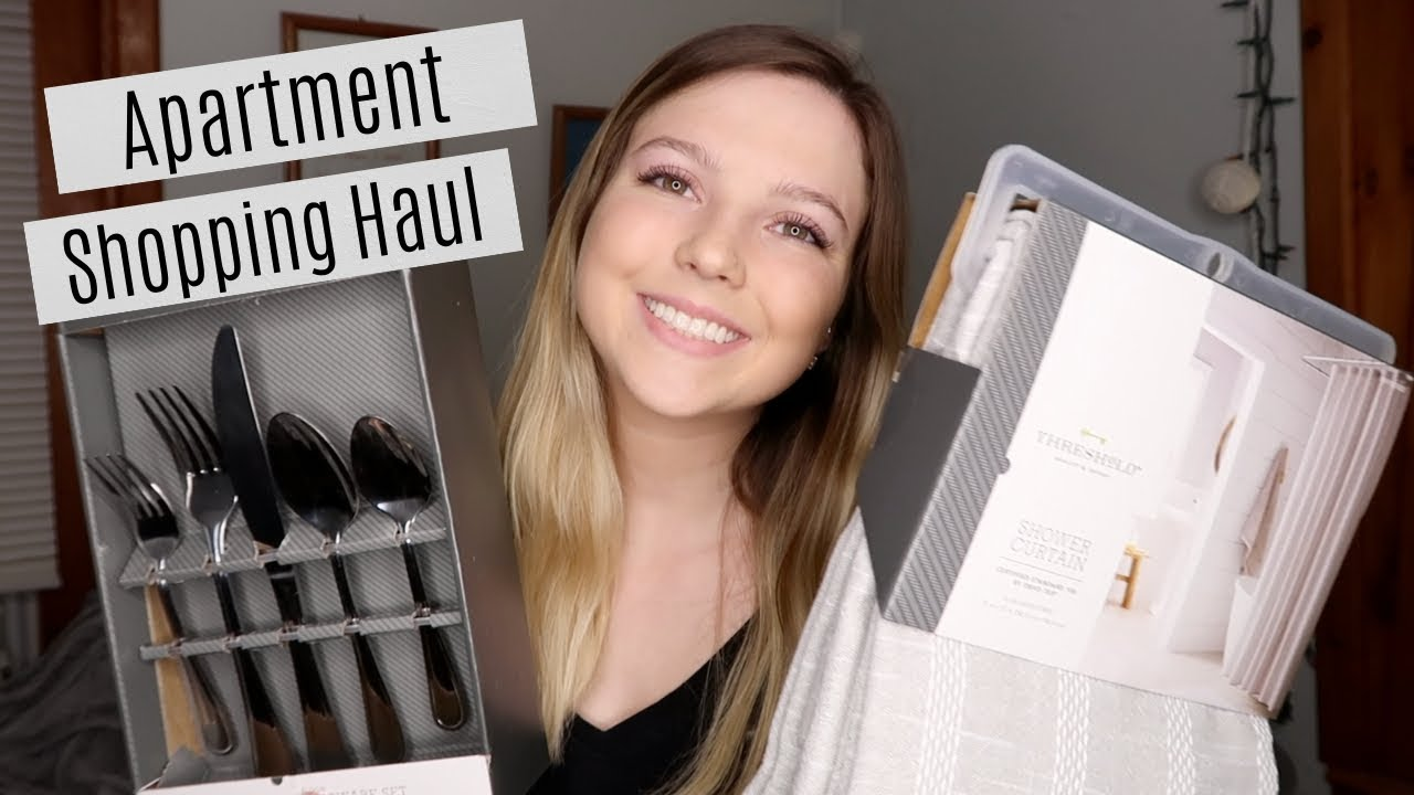APARTMENT SHOPPING HAUL  moving into my first apartment  YouTube