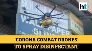 Watch: 'Corona combat' drones spray disinfectant in Delhi's slums and markets