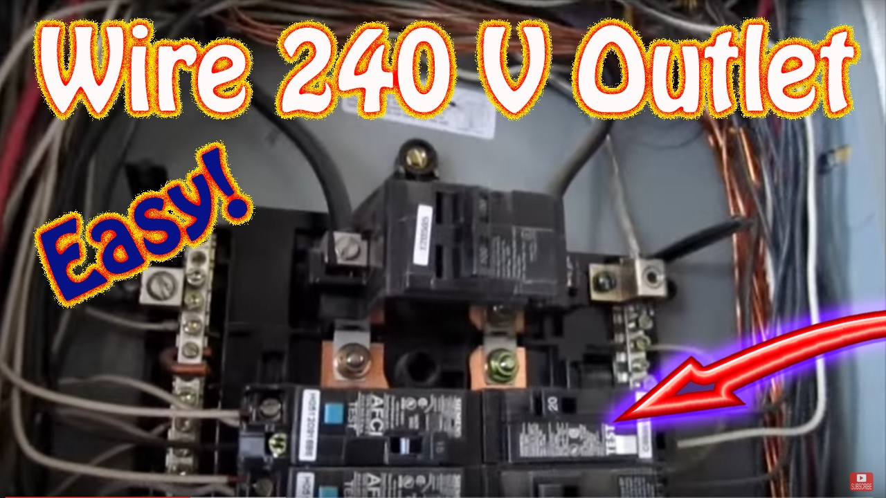 How to Wire a 240 Volt Outlet  DIY Install a 220 Volt Outlet  NEMA 620 20 AMP Circuit Breaker