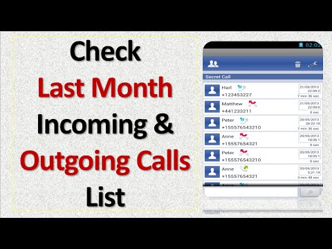 To Know Last Month Incoming And Outgoing Calls List - YouTube