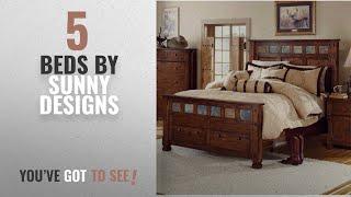 Top 10 Sunny Designs Beds [2018]: Sunny Designs 2322DC-EK Santa Fe Eastern Bed, King