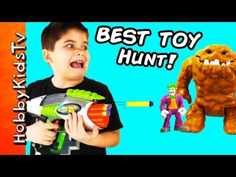 Toy Hunt! Blaster Shoots MiniFig Lego Bricks + Imaginext Batman Superman Tek 10 HobbyKids